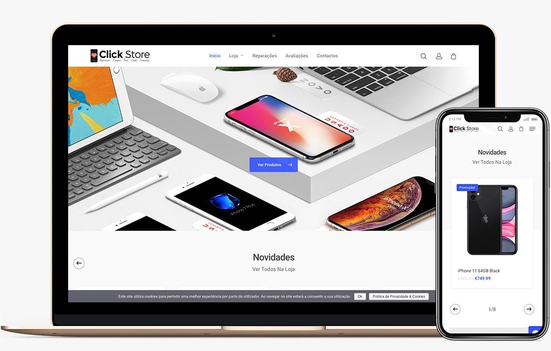 web design loja guimarães