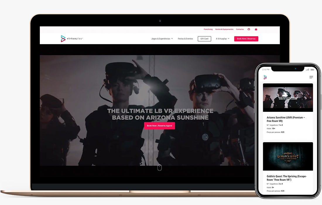web design porto virtuaplay