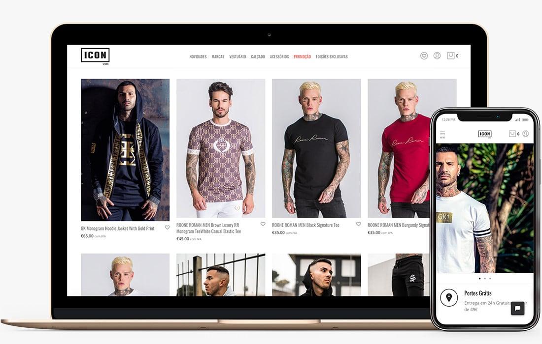 web design loja online Guimarães